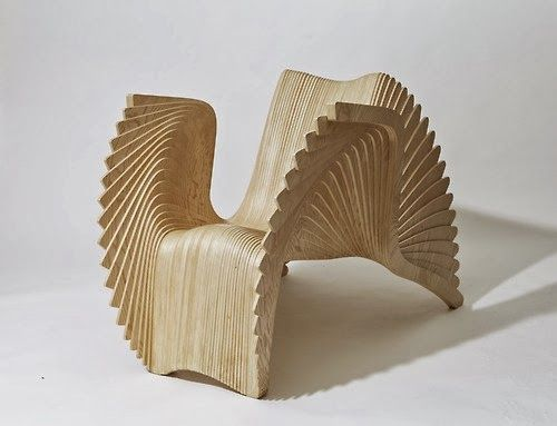 Curved and comfortable cnc armchair cnc chairs http for Product design chair