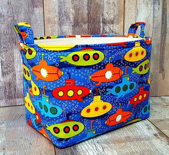 SUBMARINE KIDS HAMPER Small Storage Organizer Basket Toy Box