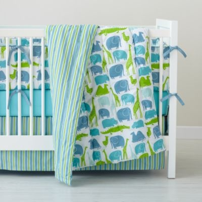 Blue The Morning Zoo Crib Bedding
