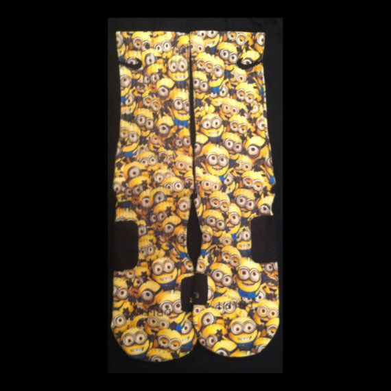 Despicable Me Minions Custom Nike Elite Socks by EliteHeadquarters, $27.99