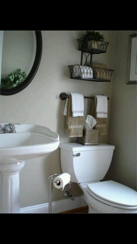 Above toilet storage Creative Bathroom Storage Ideas 16