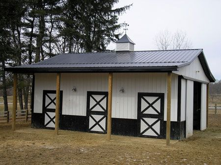 horse barn ideas | Our Gallery : Metal Buildings : Steel Buildings : Pole Building Ohio ...: