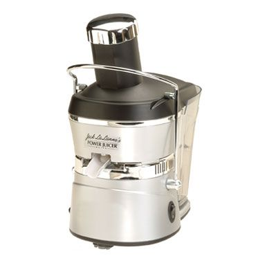 Jack Lalanne Power Juicer Elite (JPEL)   Here's our in-depth review of this heavy duty electric centrifugal juicer.