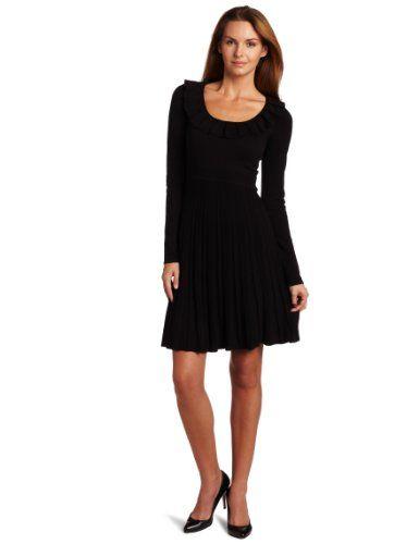 BESTSELLER! maxandcleo Women`s All Season Ruffle Neck Sweater Dress $72.83