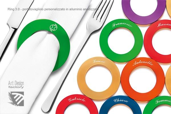 Art Design Factory - Product - Ring 3.0, napkin ring made of anodized aluminum