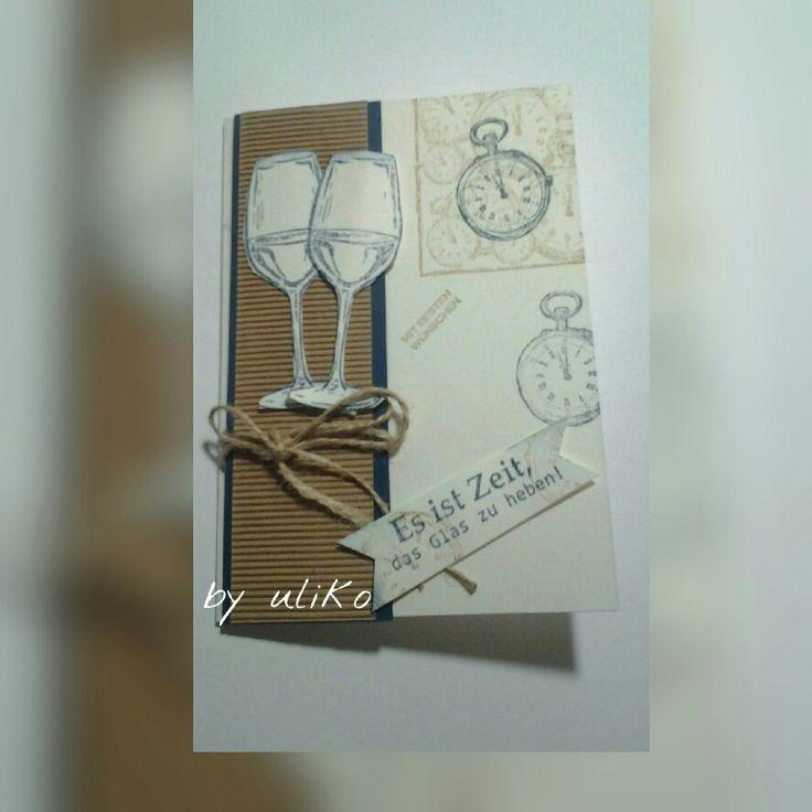 Different colour  Stempel  diy stamp  HandMade  es ist Zeit das Glas zu heben
