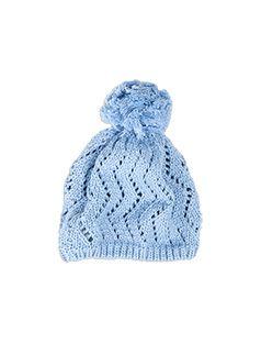 Accessories Girls Pompom Crochet Beanie Blue Bell beanie