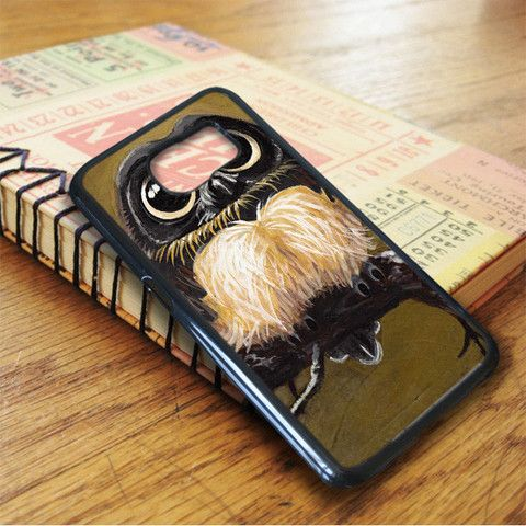 Brown White Young Owl Samsung Galaxy S7 Case