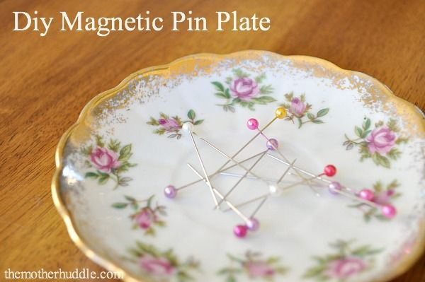 Tutorial - Magnetic plates to hold sewing pins