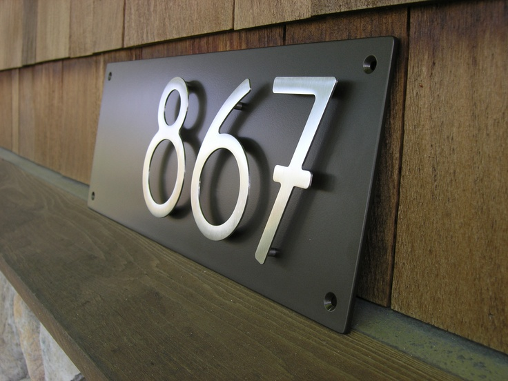 Modern style house address numbers