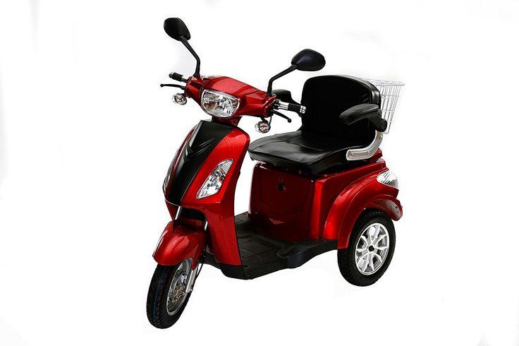 Rolektro E-Trike 25 Rot mit EU Zulassung Elektroroller E-Scooter 600 W Motor 50 KM Reichweite 25 KmH Höschstgeschwindigkeit Eroller E-roller Elektro-Roller Scooter elektrisches Dreirad 3-Rad: Amazon.de: Sport & Freizeit