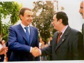 Con el Presidente del Gobierno. Jose Luis Rodriguez Zapatero.