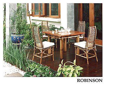 Ratanová jídelní souprava ROBINSON