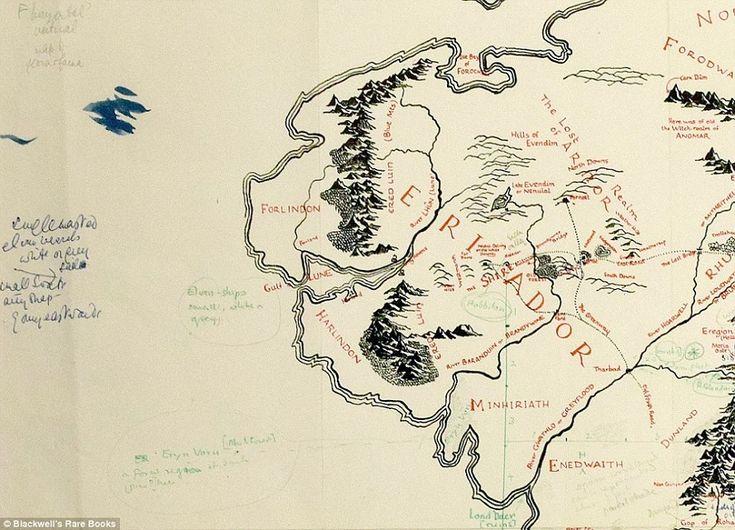 La mappa della Terra di Mezzo con le note di Tolkien - Il Post
