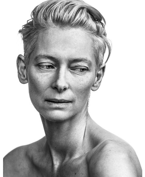 Tilda Swinton by Andy Gotts. If only I felt so confident...