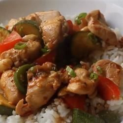 This highly simplified, yet quite Americanized version of kung pao chicken is much more flavorful than your simple stir-fry.