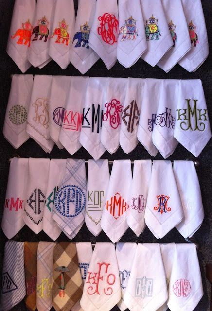 Happy As A Clam Blog: Madison Dallas...LOVE their monograms