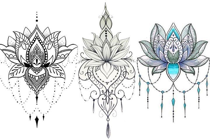 Desenhos Para Tatuagem De Flor De Lótus 30 Modelos