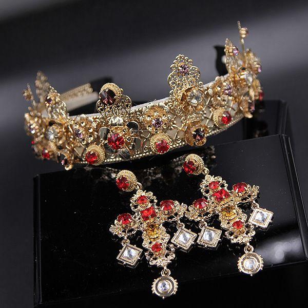 Купить товарЩедрая барокко драгоценности короны повязка на голову винтаж металл цветок глава группы широкий резные королева монет D064 в категории Украшения для волосна AliExpress.