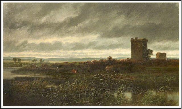 William Beattie Brown (1831–1909), Landscape with Castle.