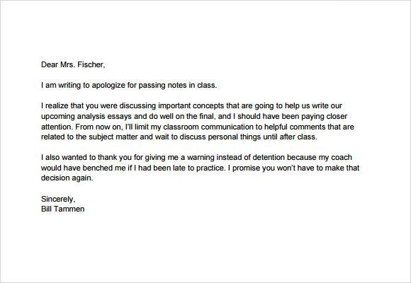 Apology essay to teacher