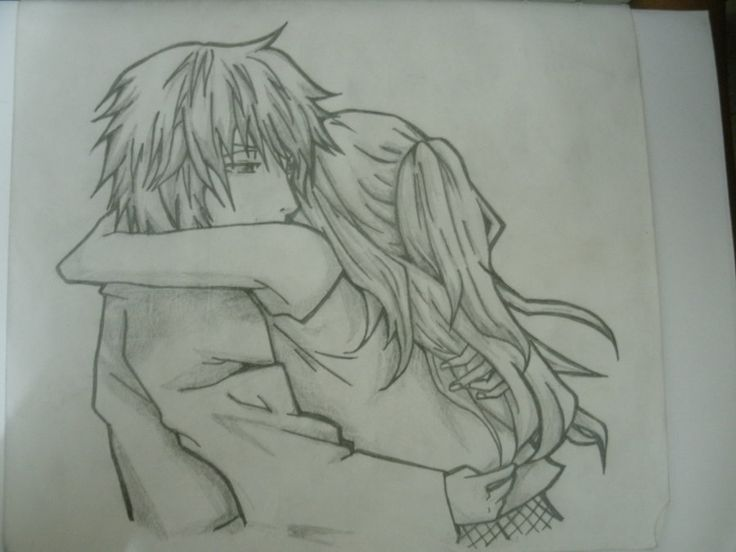 Anime Couple Hugging Drawing Anime Couples Hugging