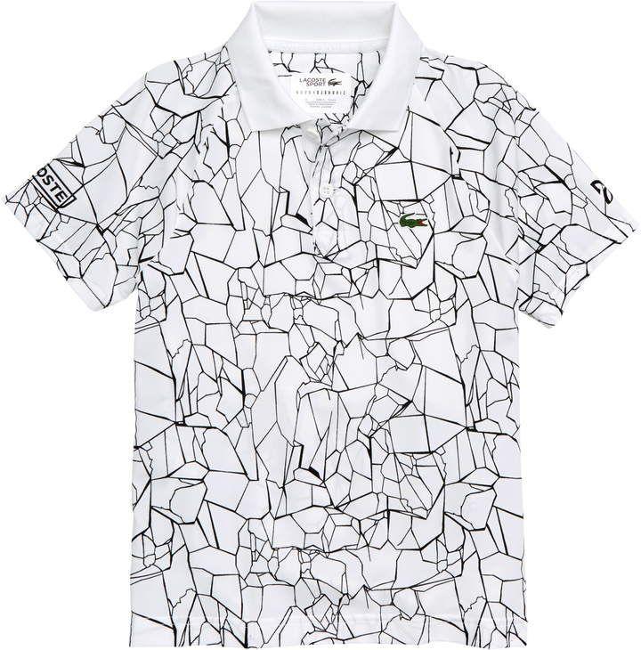 Lacoste Novak Djokovic Print Polo Shirt Printed Polo Shirts Lacoste Polo