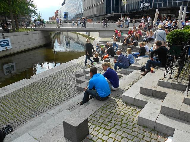 waterfront sitting