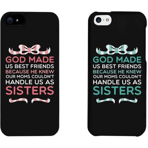 Amazon.com: Cute BFF Phone Cases - God Made Us Best Friends Phone... ($12) ❤ liked on Polyvore featuring accessories, tech accessories, phone cases, phone and cases