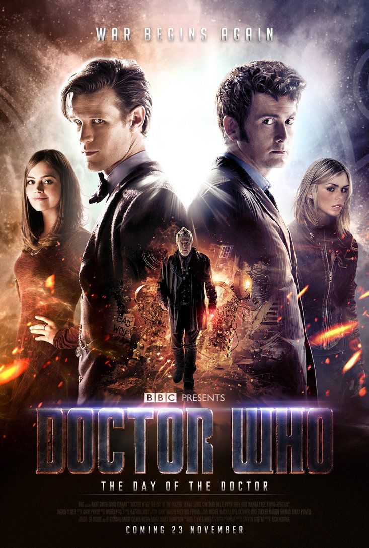 Doctor Who: The Day of the Doctor Poster by *SkinnyGlasses on deviantART