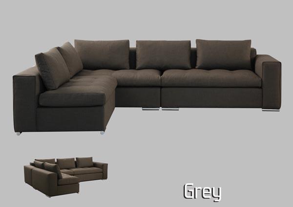 Καναπεδες Καναπές Grey Milanode.gr