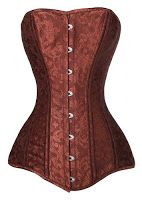From the Steampunk Fashion Guide's Guide to Corsets - Longline corsets: Bronze longline 26 steel boned overbust corset