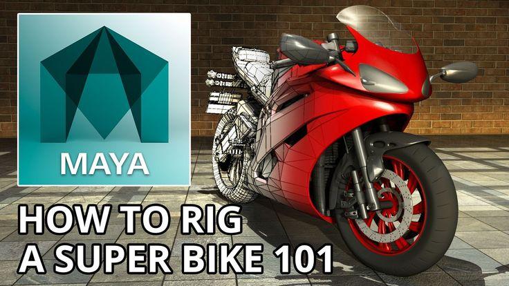 How to Rig a Super Bike 101 Autodesk Maya 2016 - Ducati 1198 Rendered in...