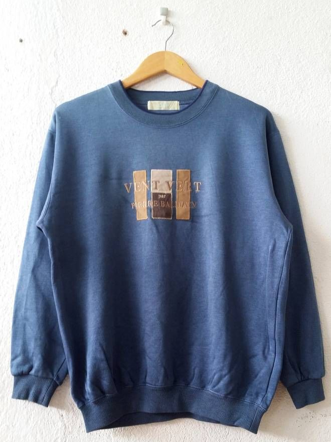 ca76bb0cd9 Pierre Balmain Pierre Balmain Paris Spell Out Embroidery Sweatshirt Jumper  Pullover Size Medium Size US M / EU 48-50 / 2