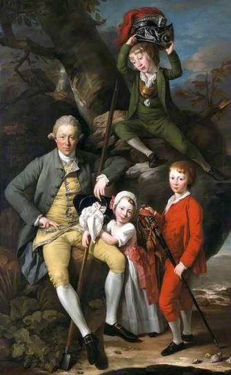 Henry Knight (1738–1772), of Tythegston, with His Three Children c.1770 by Johann Zoffany (German 1733–1810)