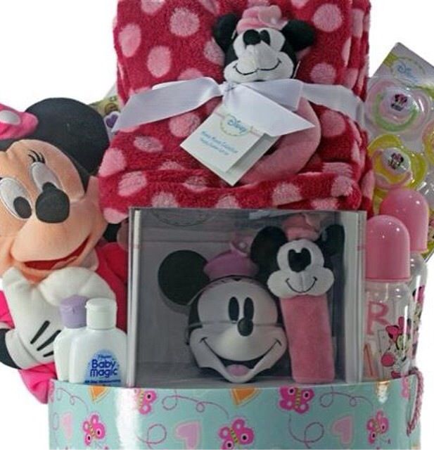 Minnie Mouse Baby Shower Designer Gift Basket Baby Shower Kids