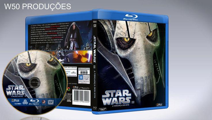 Star Wars - III A Vingança Dos Sith (Blu-Ray) - CAPA - ➨ Vitrine - Galeria De Capas - MundoNet | Capas & Labels Customizados