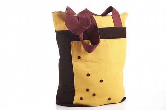 #fashion #accessory #womens #handbag #Yellow #brown #market #tote #bags #handbags #style #zip #bag