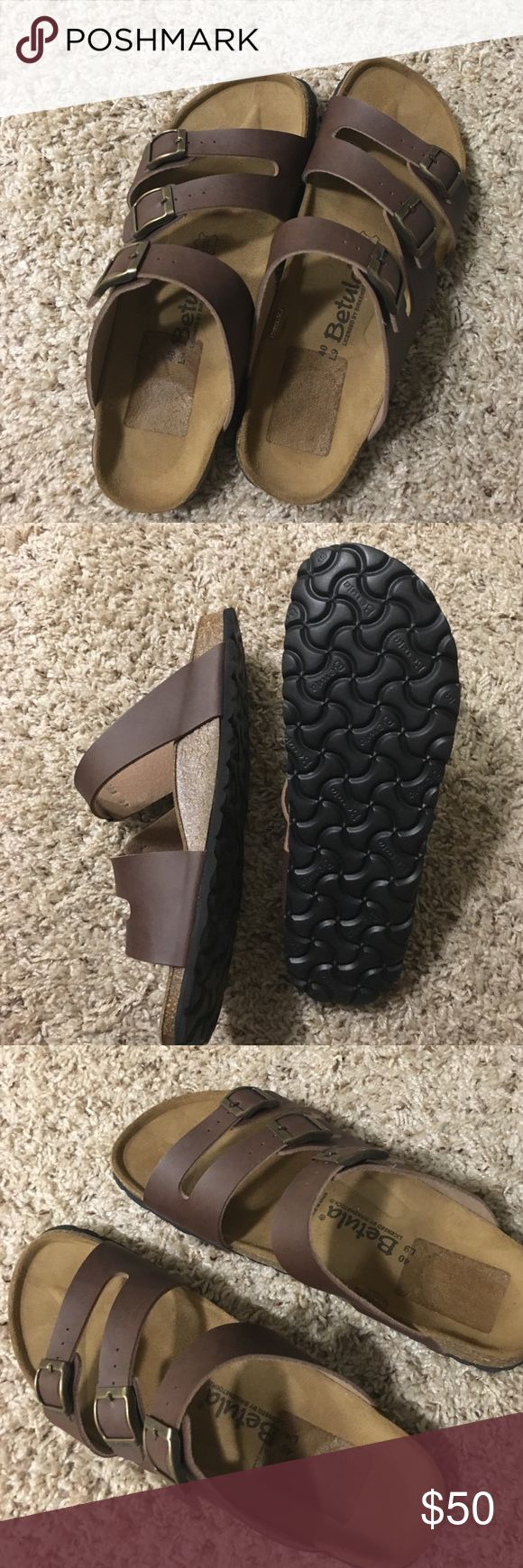 Birkenstock/Betula Sandals- Brand new! Brand new! In perfect condition- only marking is the outline of the price tag on the footbed of the sandals. Birkenstock Shoes Sandals