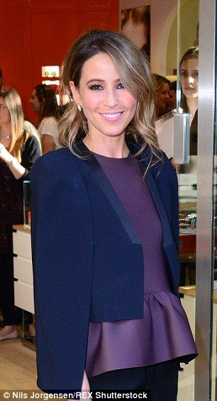 Rachel Stevens cuts a stylish figure in cropped blazer at store launch #dailymail