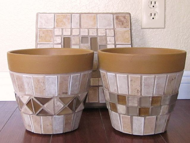 Stepping Stone & Matching Pots by GardenDivaDeb, via Flickr