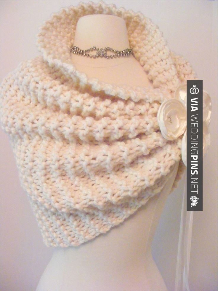 Wow - Wedding Shawl. Good if its going to be winter wedding. Would be cute in…