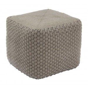 PET sittpuff rep 45x45, h40cm grå