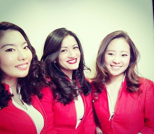 AirAsia X #cabincrew#crewfie#airasiax#japanese#brazilian#crew#aeromoca#crewlife#work#love#fly#flightattendant#aviation#girls#happy#red#instagram#instadaily#travel#instatraveling#like4like#crewiser : @marianahiraki