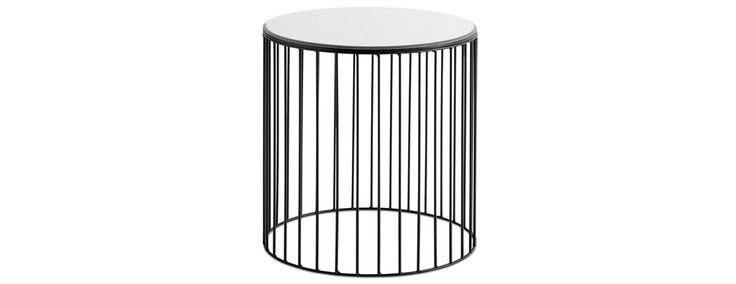 Wire table with mirror top - Design from BoConcept