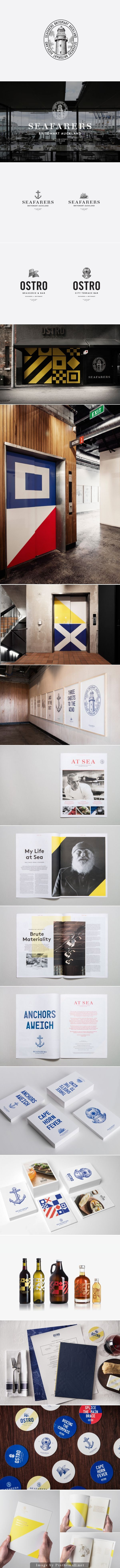 Really nice Seafarer's and Ostro by Inhouse #identity #packaging #branding curated by packaging Diva PD created via http://bpando.org/2014/06/11/logo-seafarers-by-inhouse/