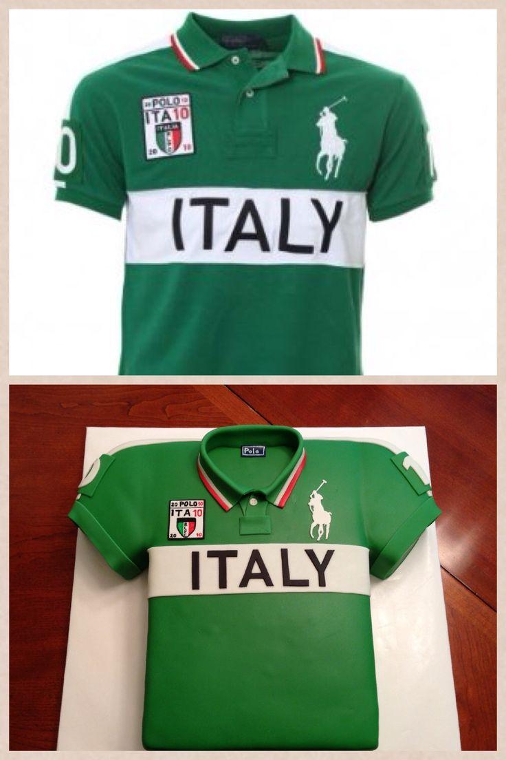 Shirt design cake - Polo Shirt Cake All Fondant