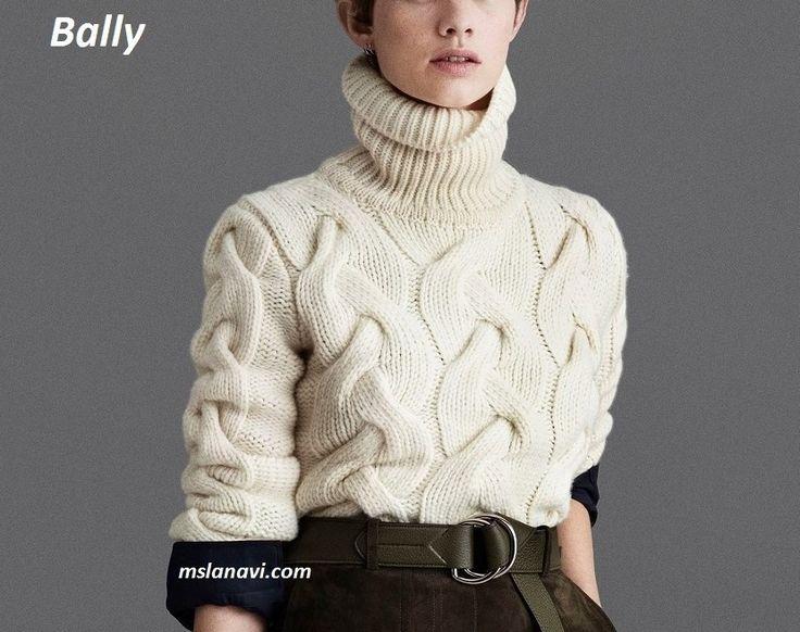 свитер спицами с косами