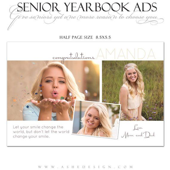 Half Page Yearbook Ad Templates