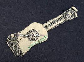 $10 Bill Money Origami UKULELE – GUITAR Dollar Bill Art – Made w/ real $10 Cash